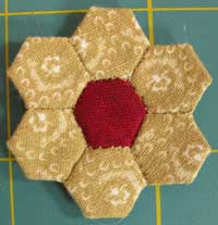 miniature hexagon flower