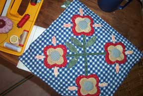applique flower block