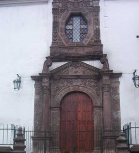 colonial chapel in downtown Quito