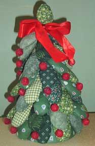 fabric petal christmas tree