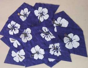 hibiscus applique blocks