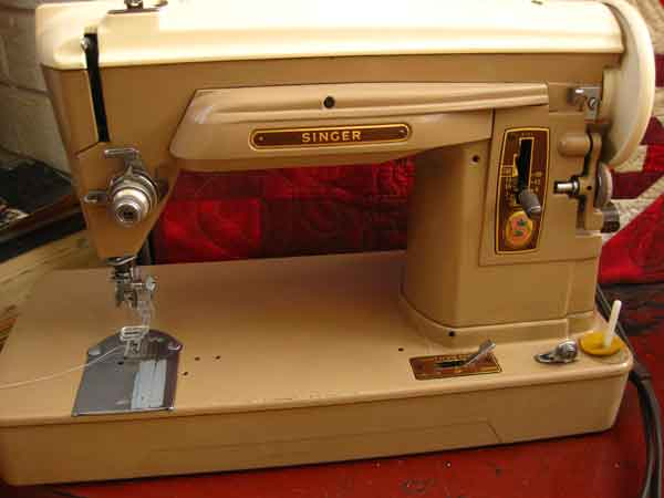 how to put thread on old sewing machine