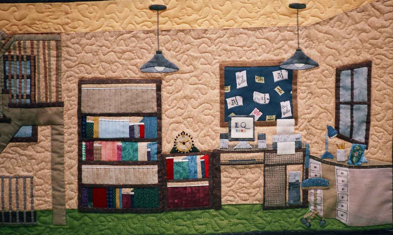 Dollhouse quilts on pinterest house quilts doll houses for My dream homes